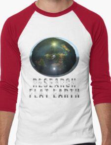 Research Flat Earth Men's Baseball ¾ T-Shirt