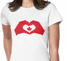 I Heart Canada 1.0 Womens Fitted T-Shirt