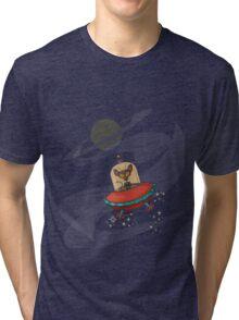 Galaxy Cat - Lost in Space Tri-blend T-Shirt