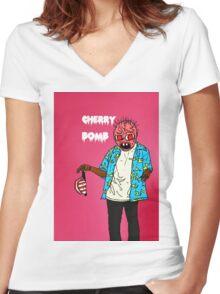 cherry  bum Women's Fitted V-Neck T-Shirt