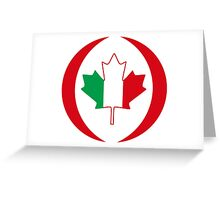 Italian Canadian Multinational Patriot Flag Series Greeting Card