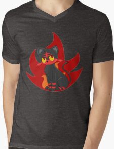 Litten Mens V-Neck T-Shirt