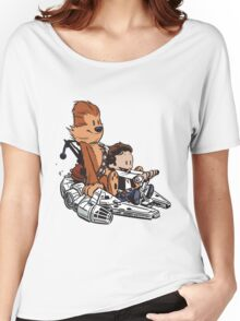 Chewie And Han Calvin And The Hobbes Women's Relaxed Fit T-Shirt