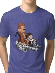 Chewie And Han Calvin And The Hobbes Tri-blend T-Shirt