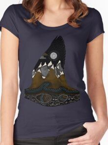 Wild Duck Spirit Totem Women's Fitted Scoop T-Shirt