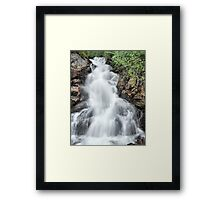 waterfall on vancouver island Framed Print