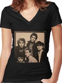 Vintage Duran Duran Cover Women's Fitted V-Neck T-Shirt