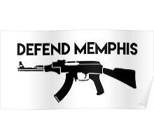 Defend Memphis (Black)  Poster