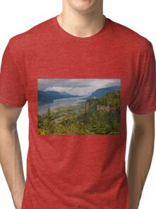 Crown Point, Vista House and Columbia River Tri-blend T-Shirt