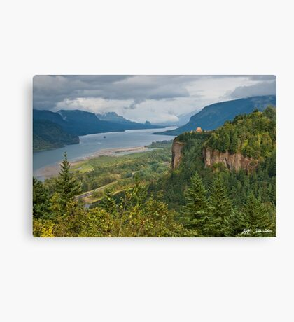 Crown Point, Vista House and Columbia River Canvas Print