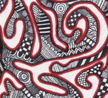 squiggle zentangle Sticker