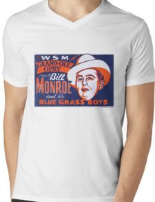 Bill Monroe Blue Grass Mens V-Neck T-Shirt