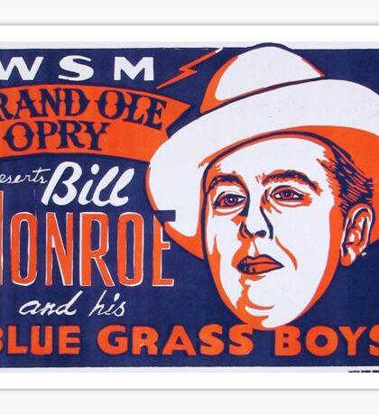Bill Monroe Blue Grass Sticker