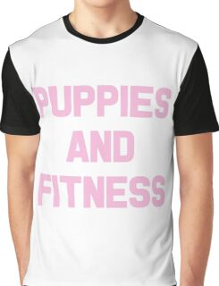 Puppies and Fitness Graphic T-Shirt