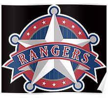 Texas Rangers Star Poster