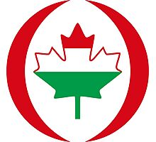 Hungarian Canadian Multinational Patriot Flag Series Photographic Print