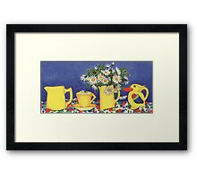 Daisies with Bird Jug Framed Print