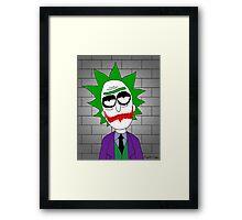 Joker Rick Framed Print