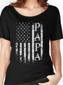 American PAPA Flag TShirts & Hoodies Women's Relaxed Fit T-Shirt