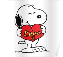 love you snoopy love Poster