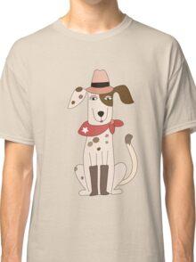 Funny Cartoon Pets Cowboy Dog Classic T-Shirt