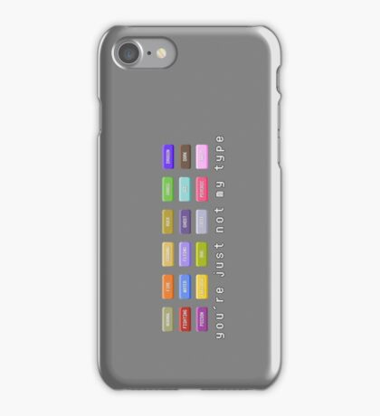 You're Just Not My Type iPhone Case/Skin