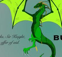 Sabra and the Dragon Sticker