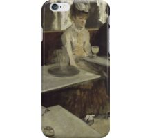 Edgar Degas - In a Cafe (1873) iPhone Case/Skin