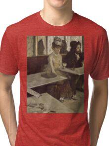 Edgar Degas - In a Cafe (1873) Tri-blend T-Shirt