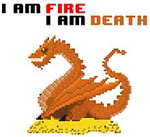 i am fire Photographic Print