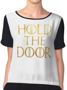 Hold The Door Chiffon Top