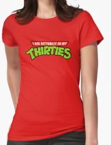Teenage Mutant Ninja Thirties Womens Fitted T-Shirt