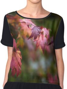 Autumn Leaves Chiffon Top