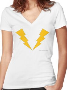 Lightning Lad, Legion of Superheroes Women's Fitted V-Neck T-Shirt