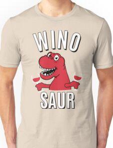 Winosaur Dinosaur Drinking Wine Unisex T-Shirt