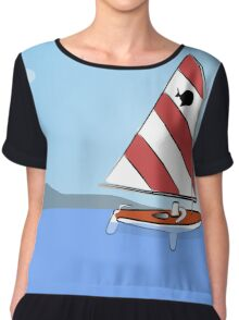 Sunfish Sailboat Chiffon Top