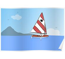 Sunfish Sailboat Poster