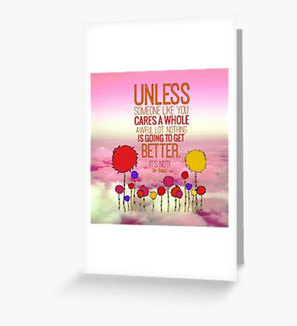 Unless Cloud Greeting Card