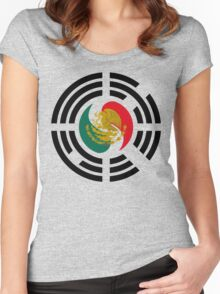 Korean Mexican Multinational Patriot Flag Series Women's Fitted Scoop T-Shirt
