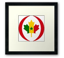 Senegalese Canadiain Multinational Patriot Flag Series Framed Print