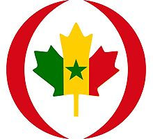 Senegalese Canadiain Multinational Patriot Flag Series Photographic Print