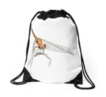 Dragon fly Drawstring Bag