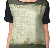PSALM 23 IN GERMAN (old parchment) Chiffon Top