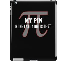 4 DIGITS OF PI - FUNNY MATH TEACHER iPad Case/Skin