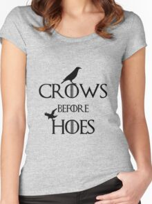 Crows Before Hoes Game Of Thrones Women's Fitted Scoop T-Shirt