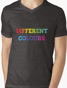 Different Colours Mens V-Neck T-Shirt