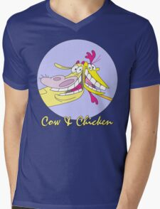 Cow And Chicken : KungCow Chicken Mens V-Neck T-Shirt