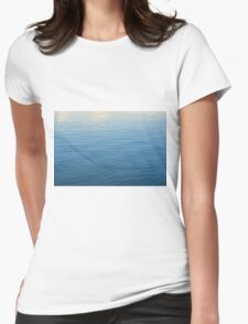 Natural background with blue and beige water ripples. Womens Fitted T-Shirt