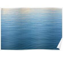 Natural background with blue and beige water ripples. Poster
