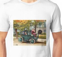 Colorized Sen Wetmore & Wife in a Kreiger Electric Landaulet 1906 Unisex T-Shirt